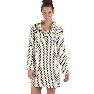 Mud Pie Whitney Ruffled top dot dress